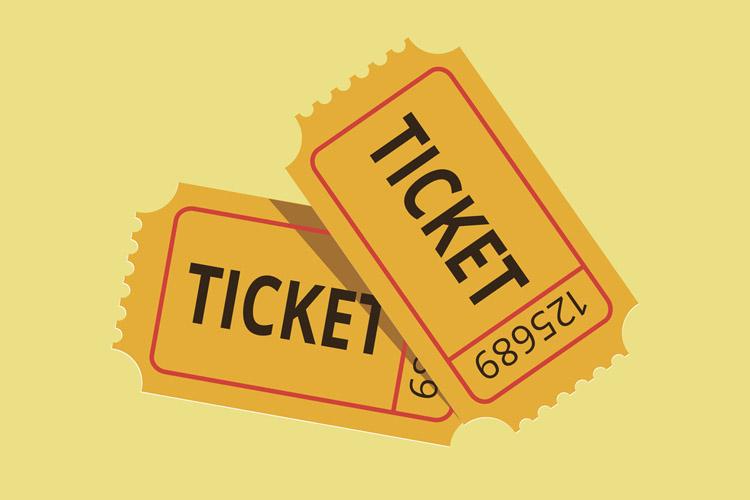 Number 50 Ticket
