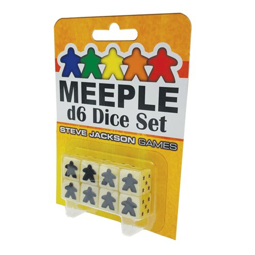 Meeple D6 Dice Set - White