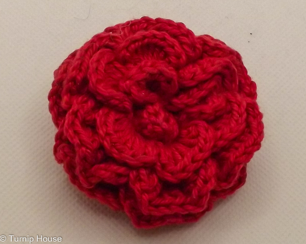 Irish Crochet Rose Brooch