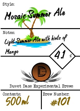 Mozaic Summer Ale 27l Eco Keg