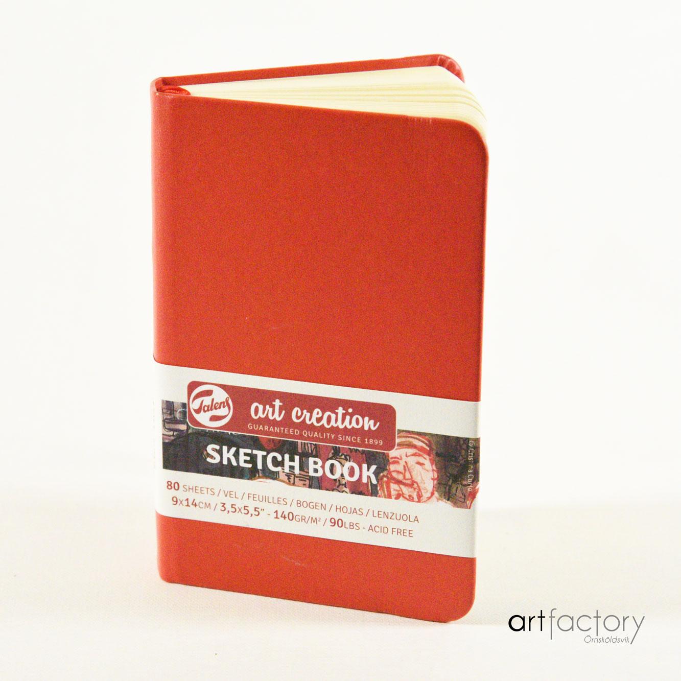 Sketch book Art Creation 9x14 röd