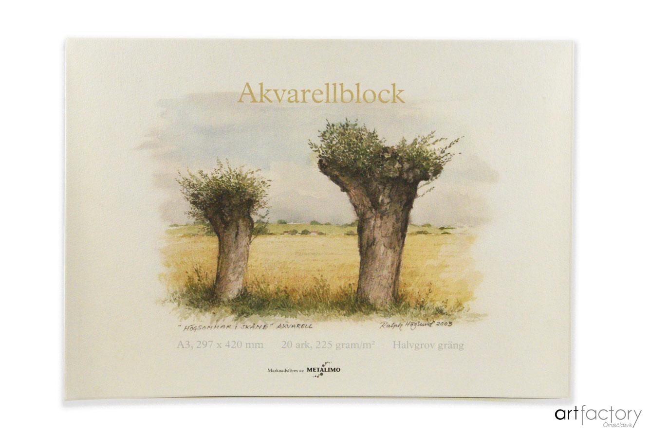 Akvarellblock 162 20 ark 120g/m2