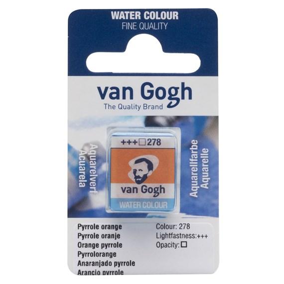 278 van Gogh akvarellfärg Pyrrole Orange 1/2