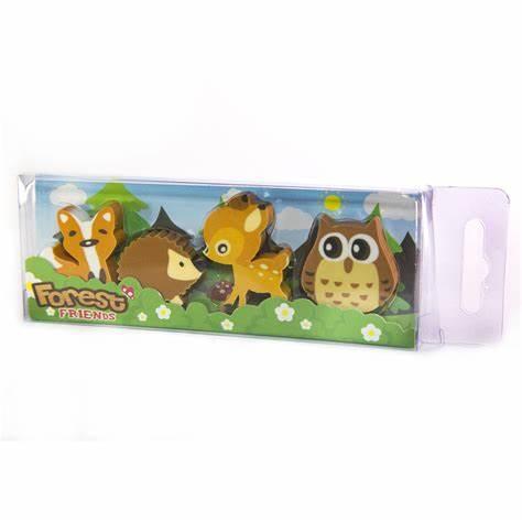 Forest Friends Eraser Set