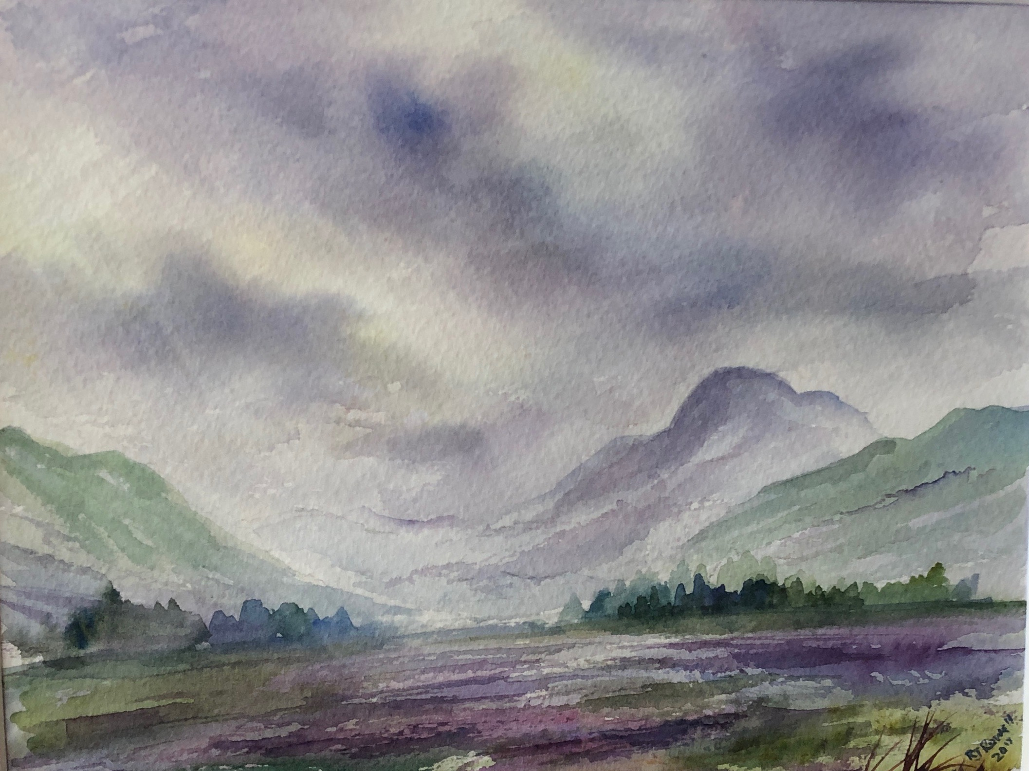Highland Art Landscape Watercolour Paintings