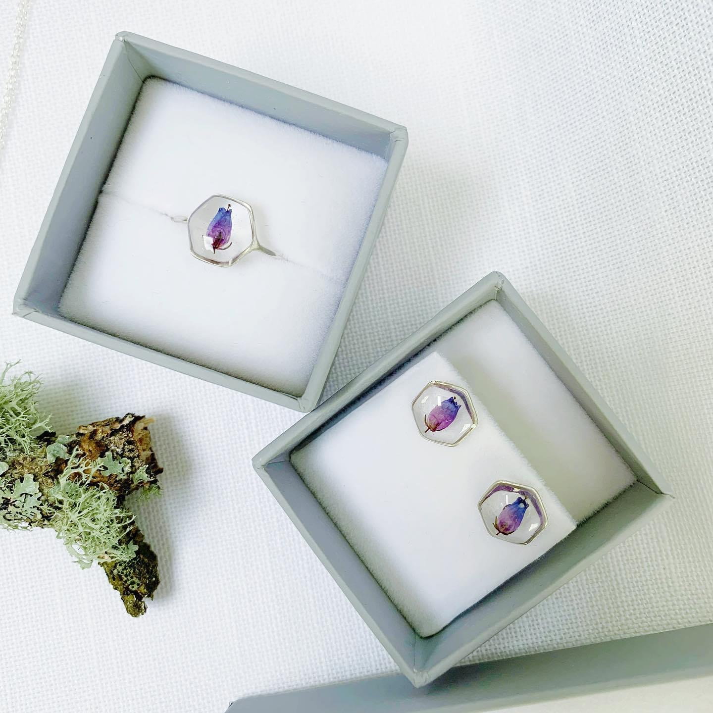Handcrafted Silver & Bell Heather Jewellery