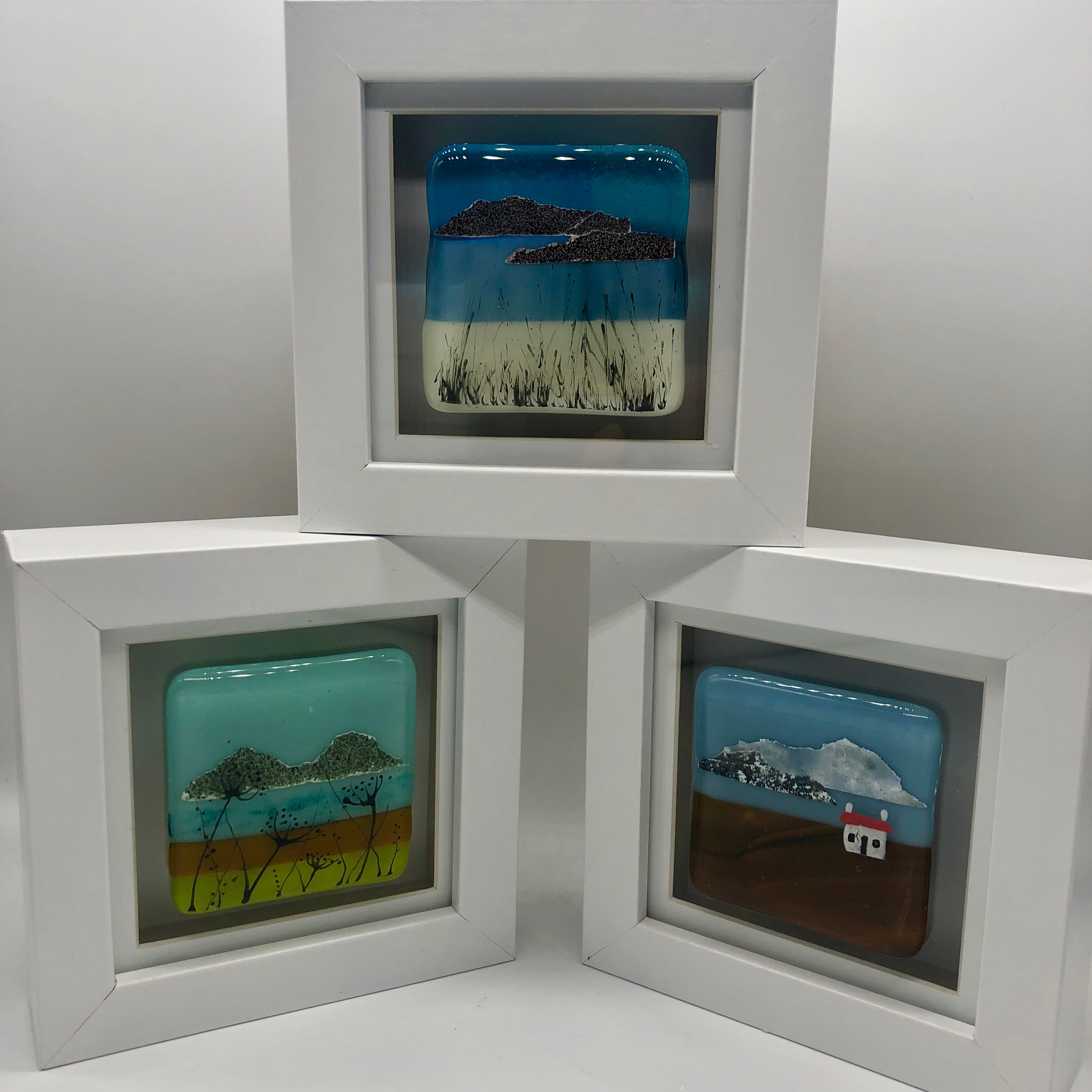 Hand Painted Fused Glass Frames