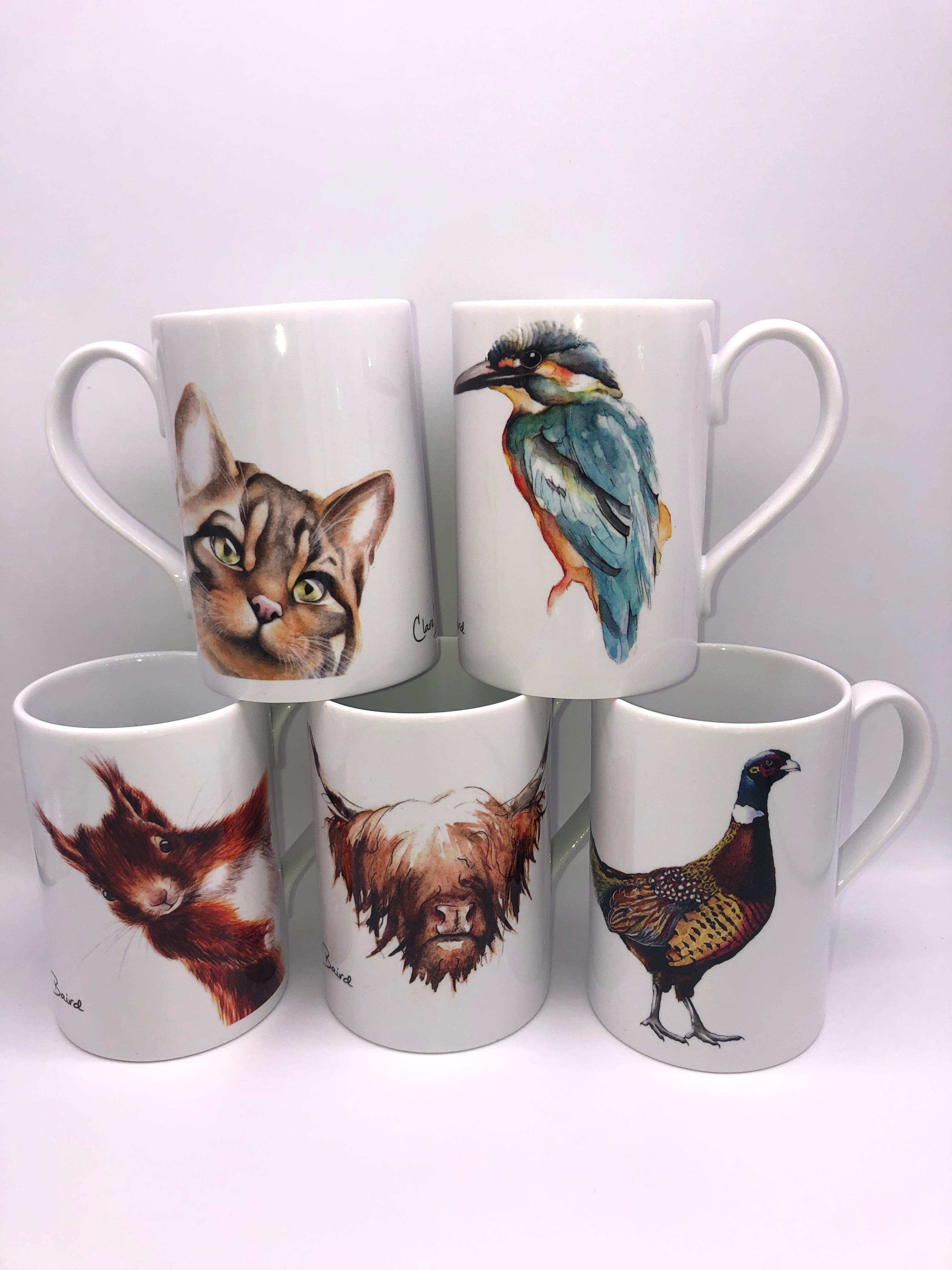 Clare Baird Porcelain Mugs