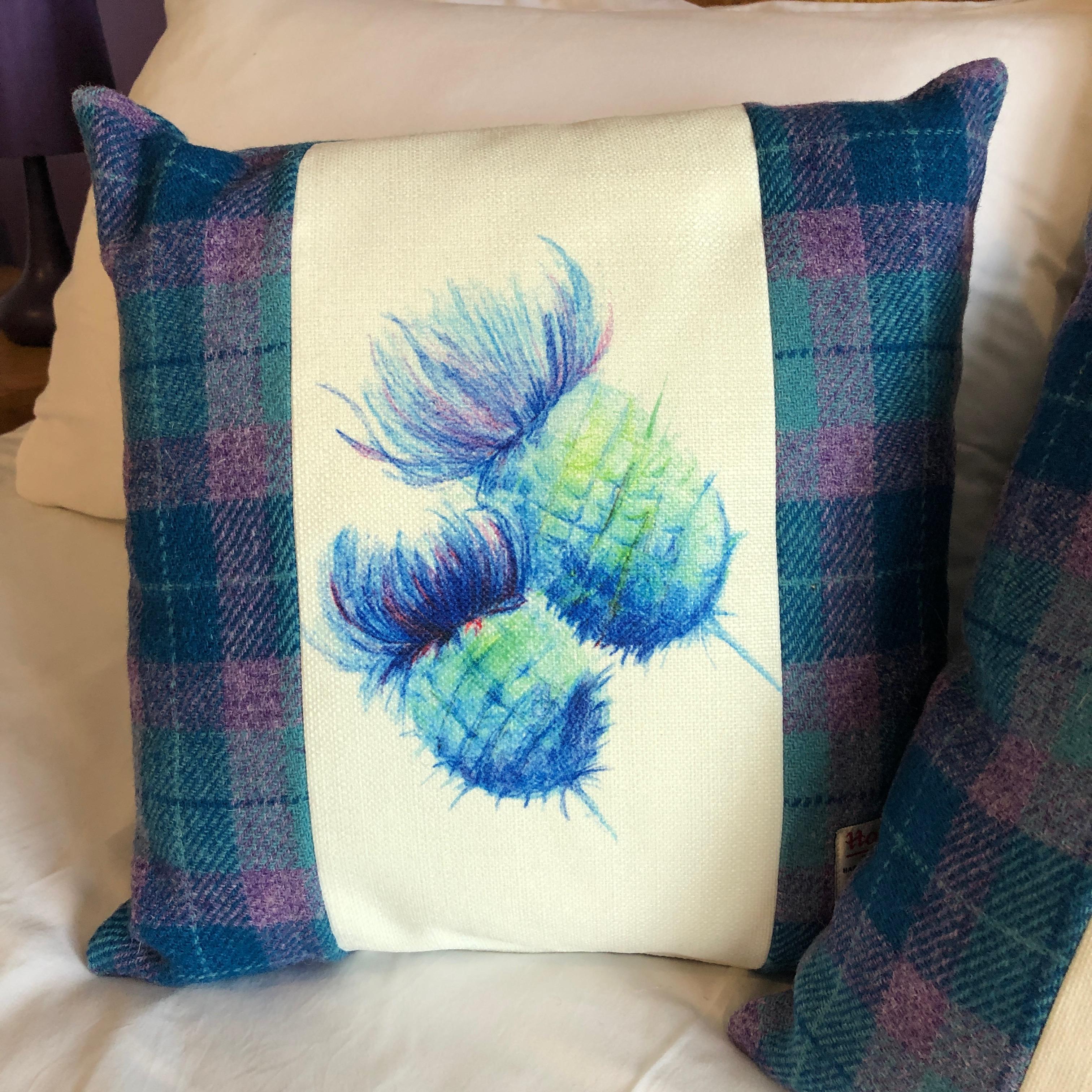 Tweed Thistle Cushions