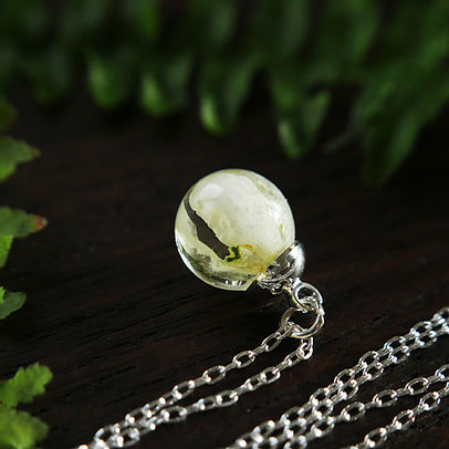 Botanic Isles Pendant Necklace Silver 12mm