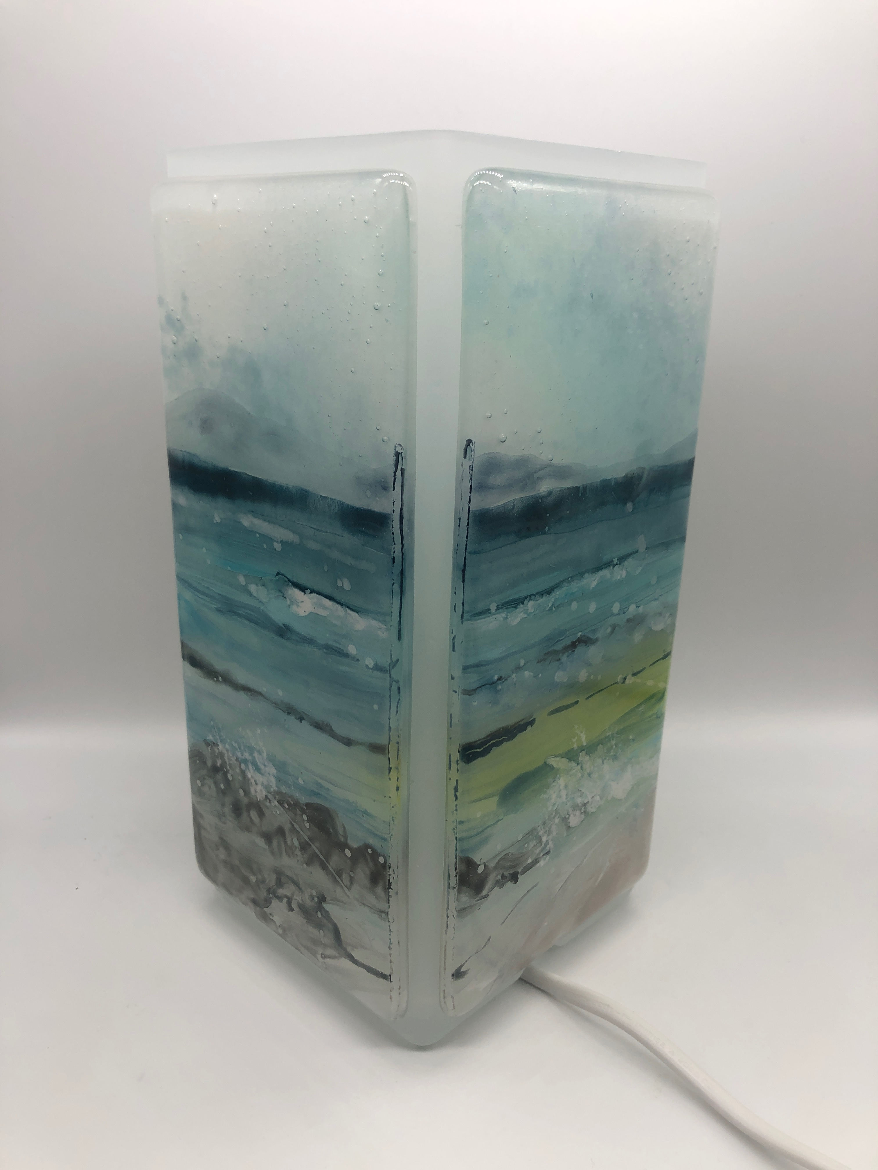 Hand Painted Fused Glass Lamp