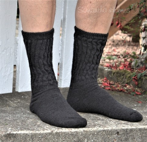 Mens Alpaca Rib Cushion Socks
