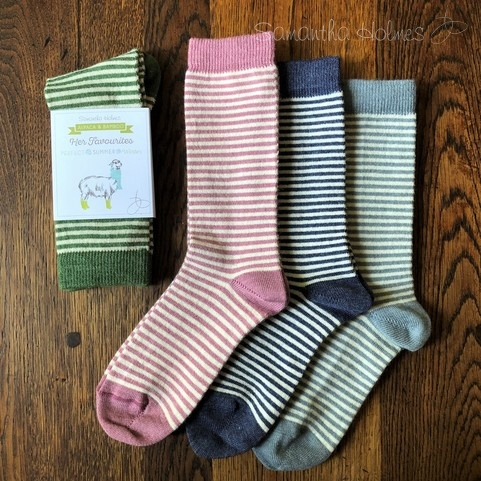 Alpaca Ladies Stripes Socks