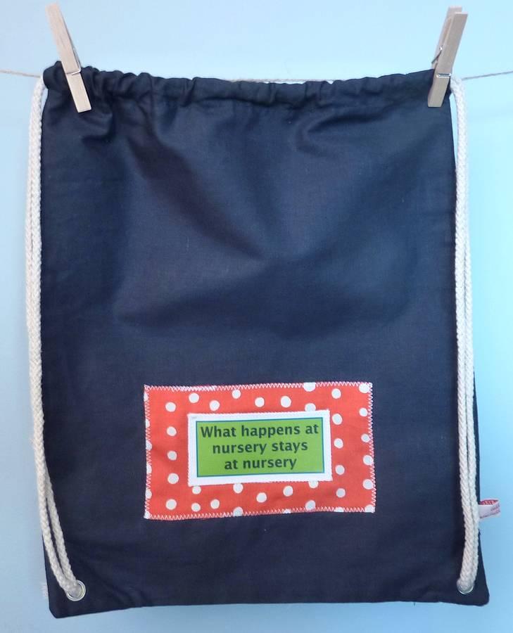 Slogan Nursery Bag