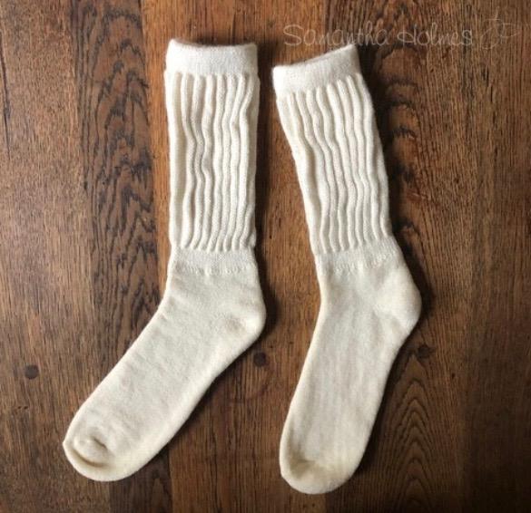 Ladies Alpaca Rib Cushion Socks - Grey