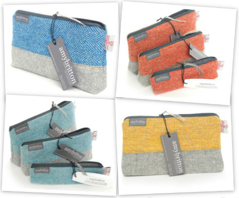 Amy Britton Tweed Cosmetic Bags