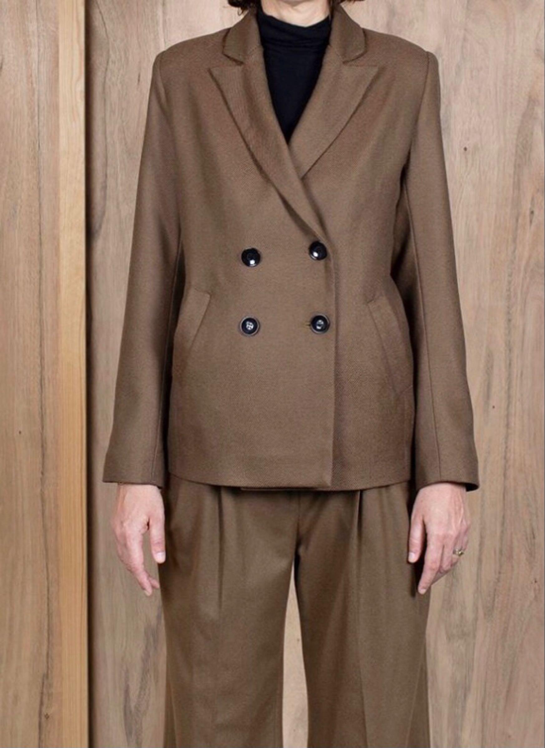 ASK X EMBLA  Gro jacket camel