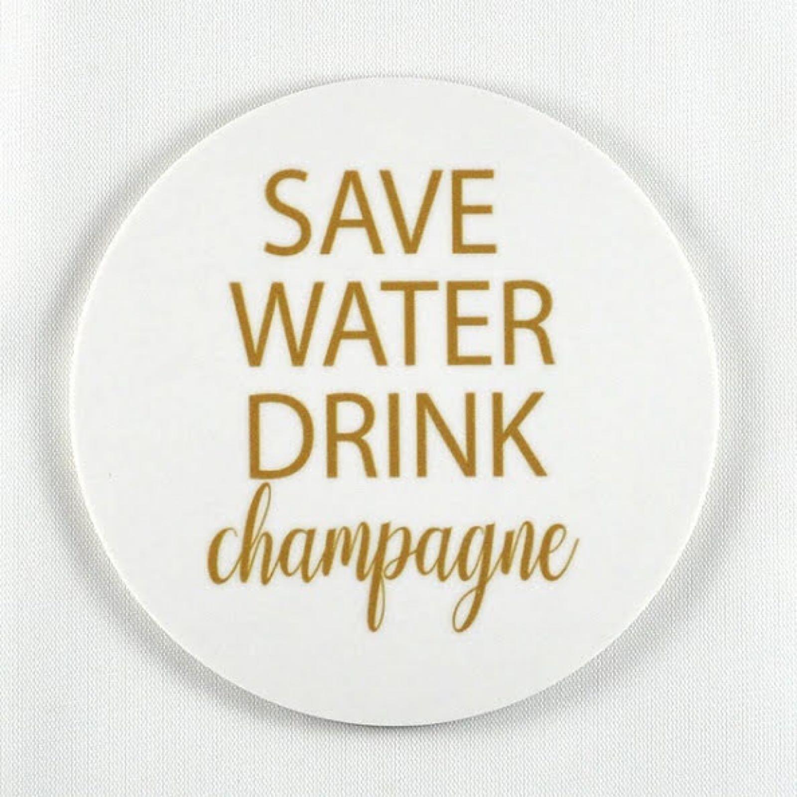 "Mellow Design - Glasunderlägg ""Save water"""