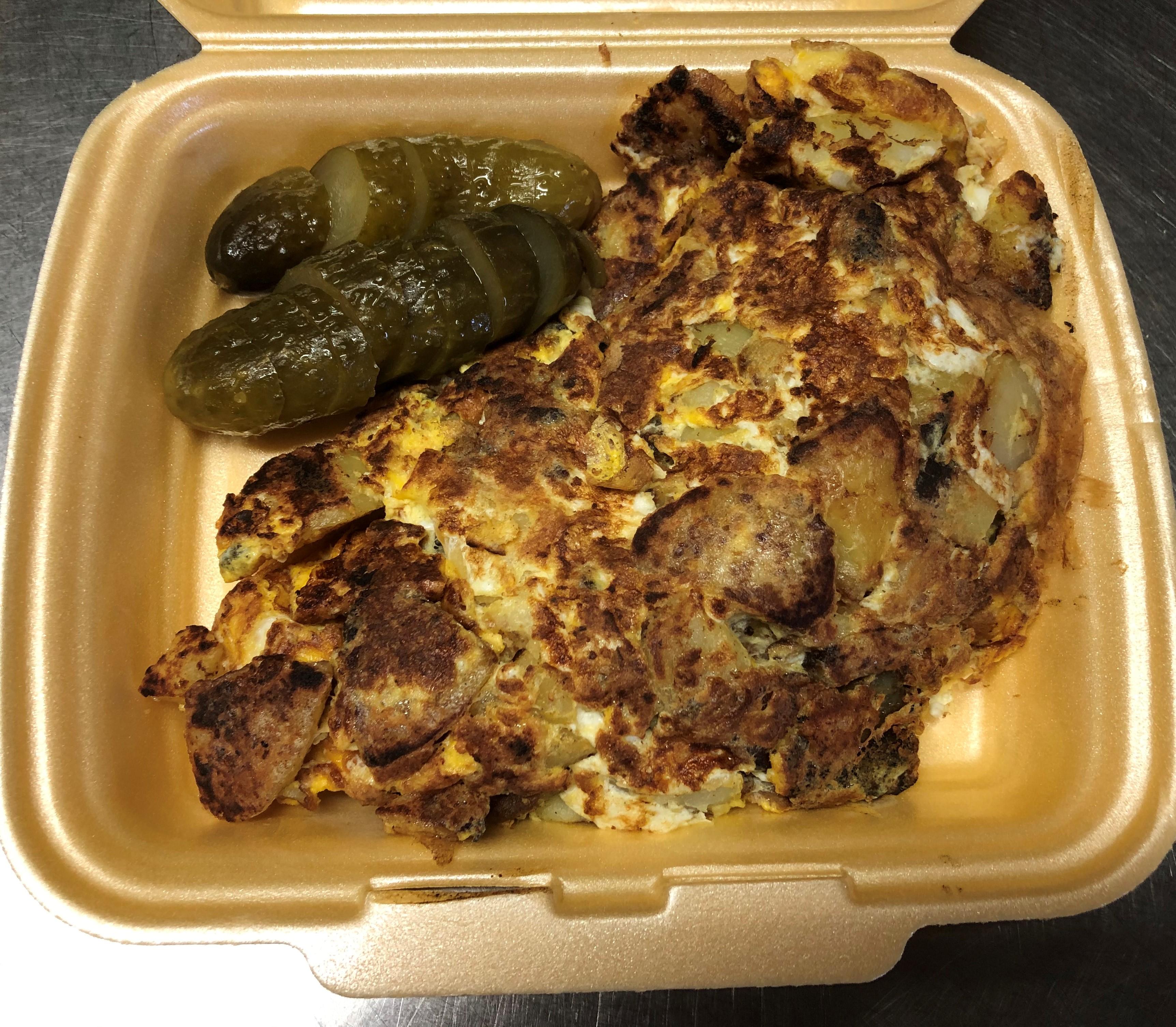 Bauernfrühstück mit Gewürzgurke