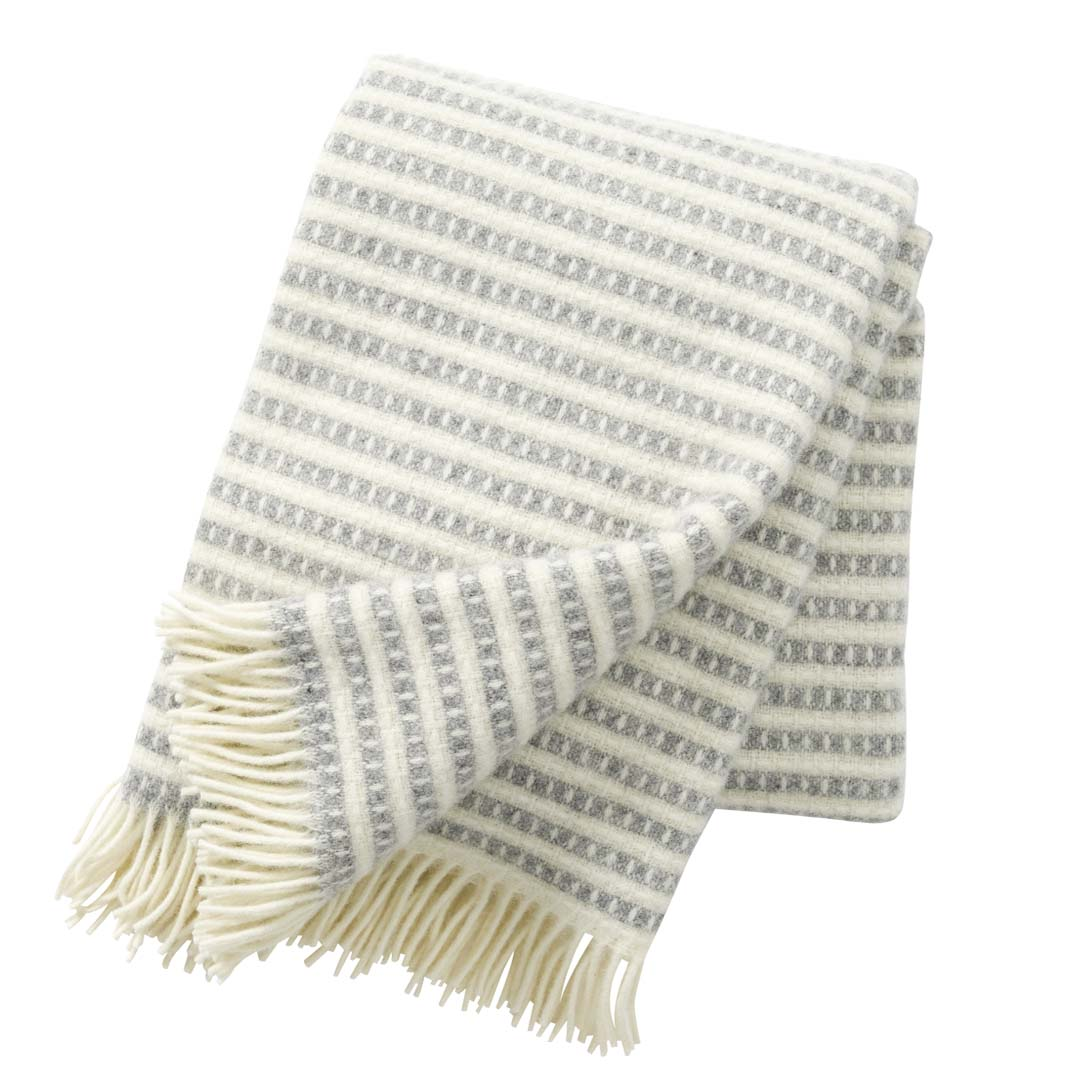 "Klippan yllepläd / wool throw ""Olle"""