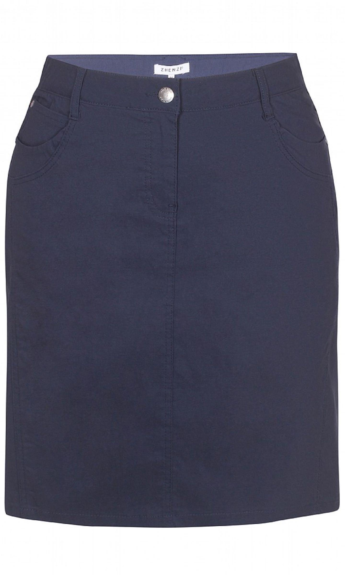 Kjol med innerbyxa, mörkblå