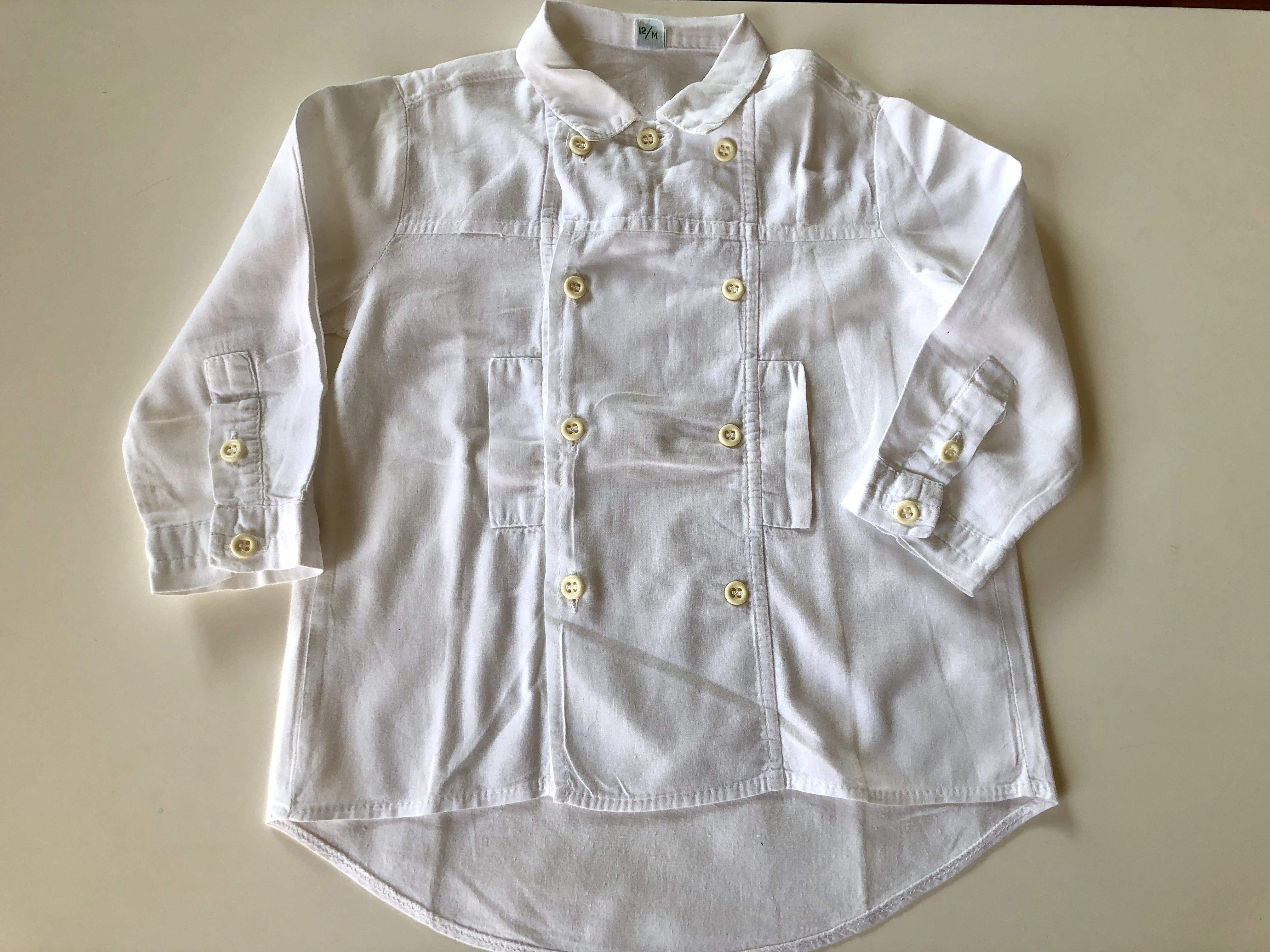 Gr. 80 Prenatal Trachtenhemd weiß