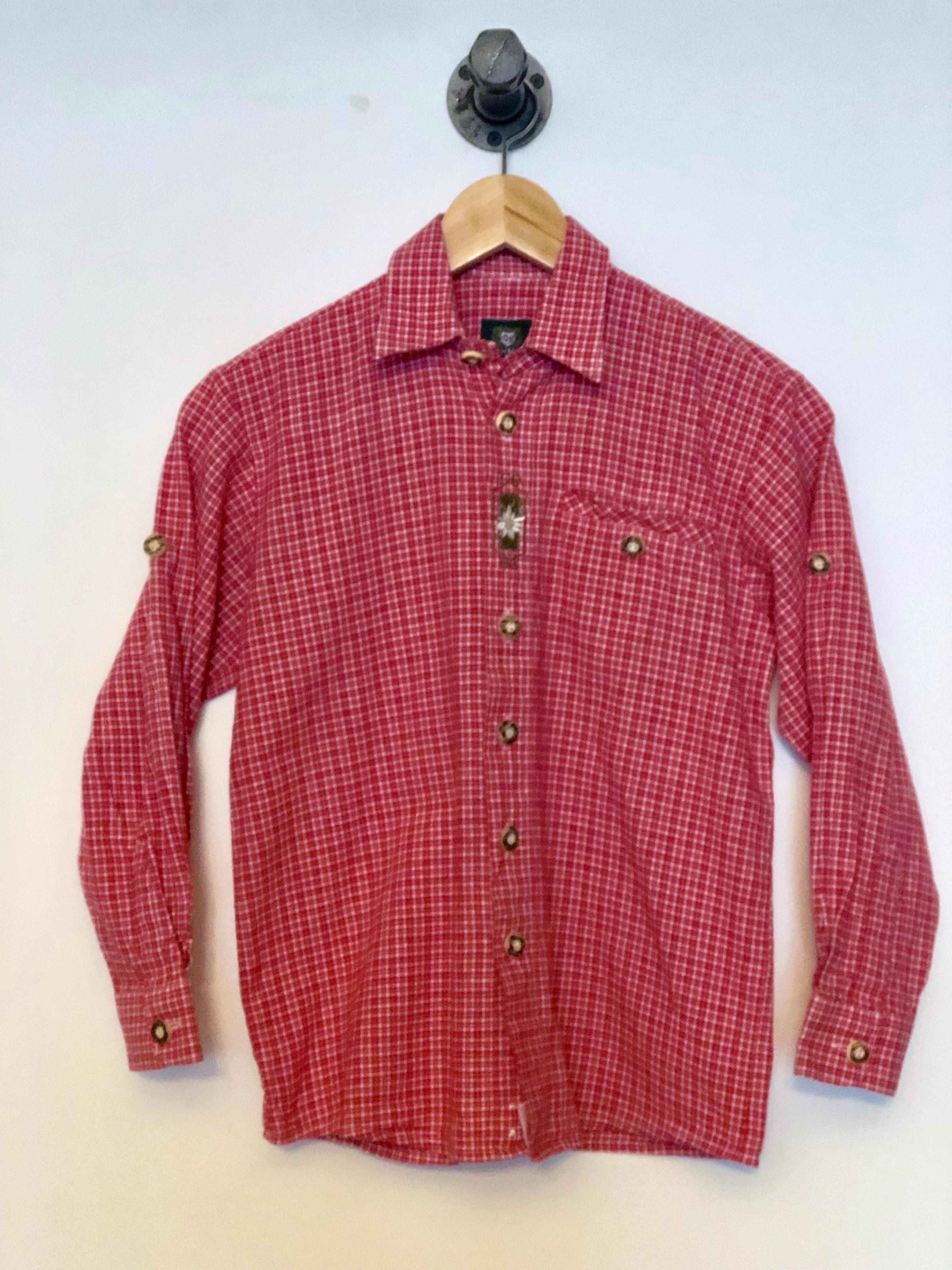 Gr. 134-140 OS Trachten Trachtenhemd