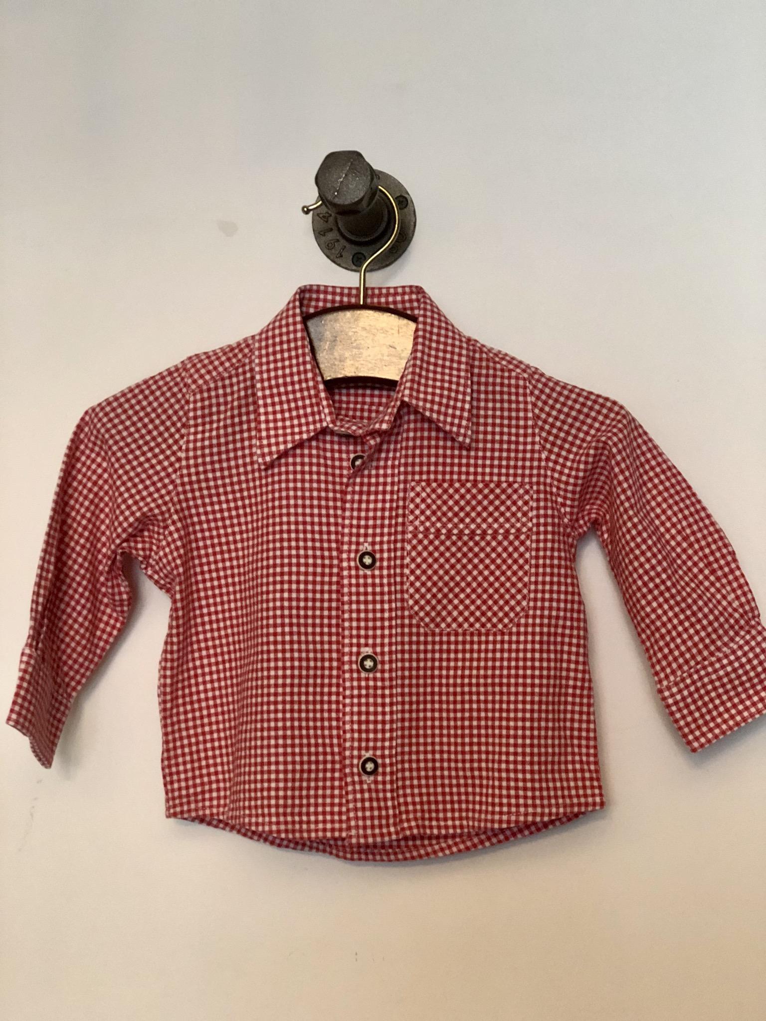 Gr. 74-80 Isar Trachten Trachtenhemd