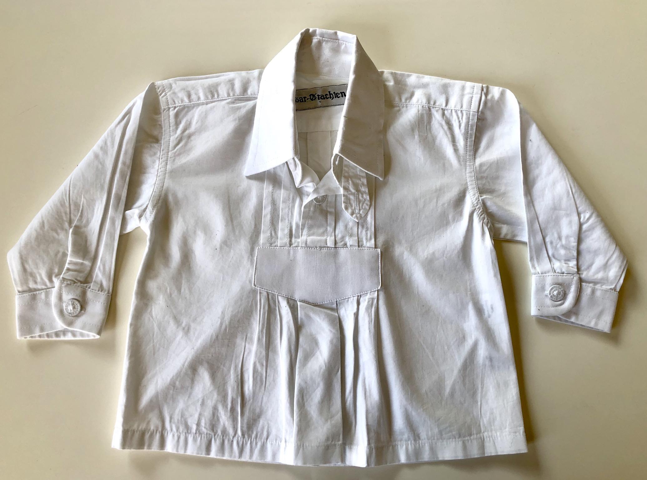 Gr. 68 Isar Trachten Trachtenhemd weiß