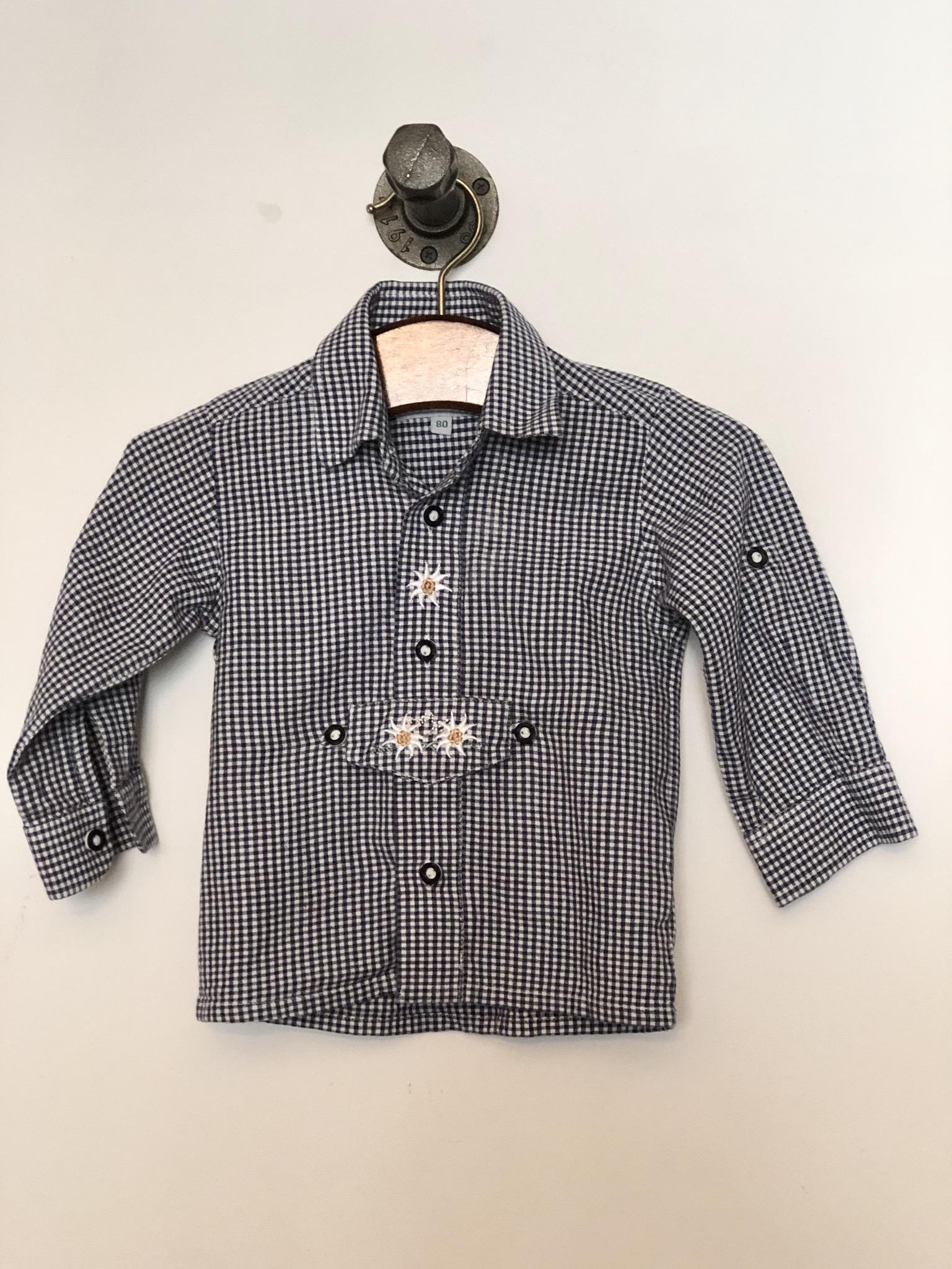 Gr. 80 Isar Trachten Trachtenhemd