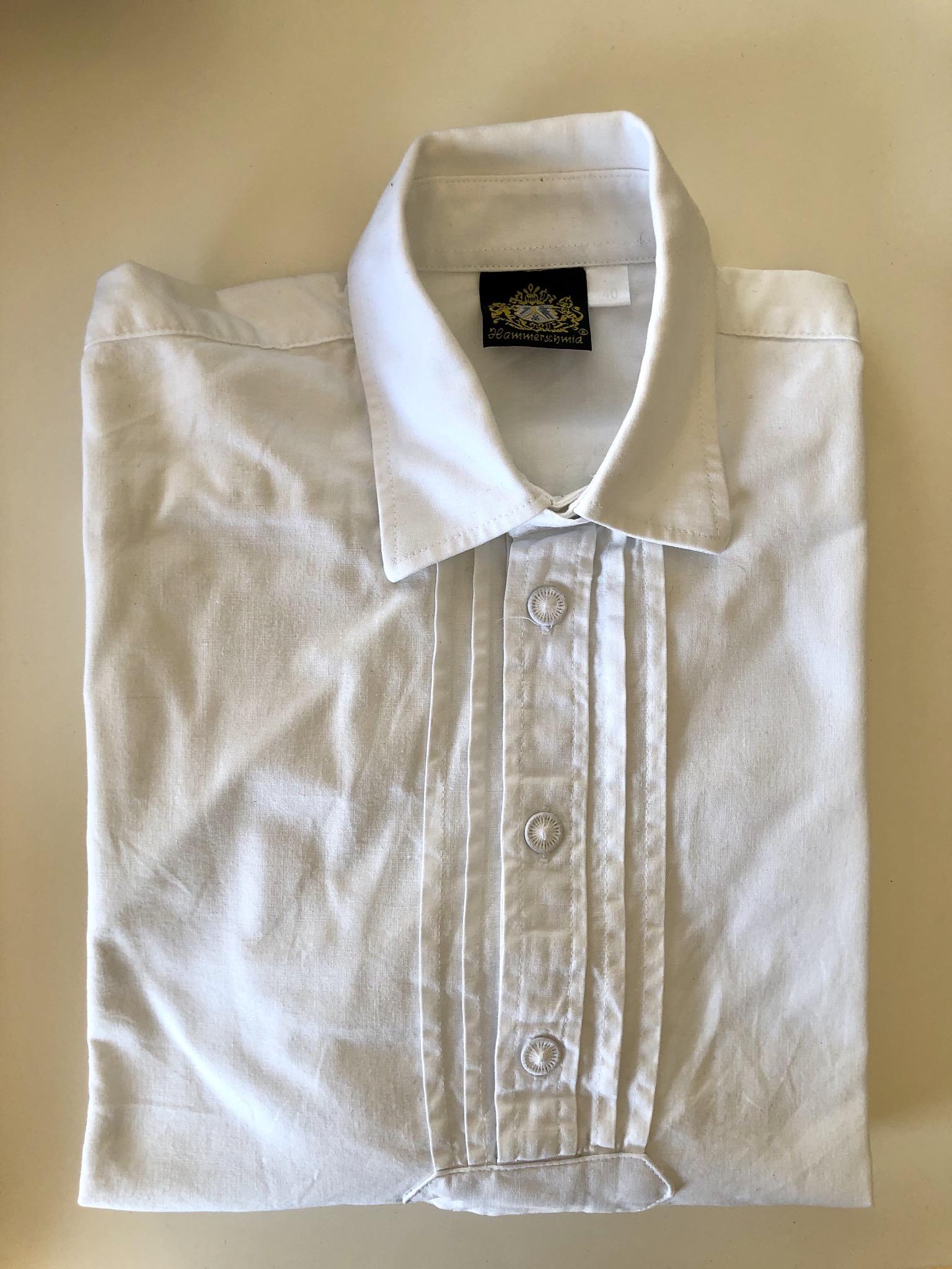 Gr. 140 Hammerschmid Trachtenhemd weiß