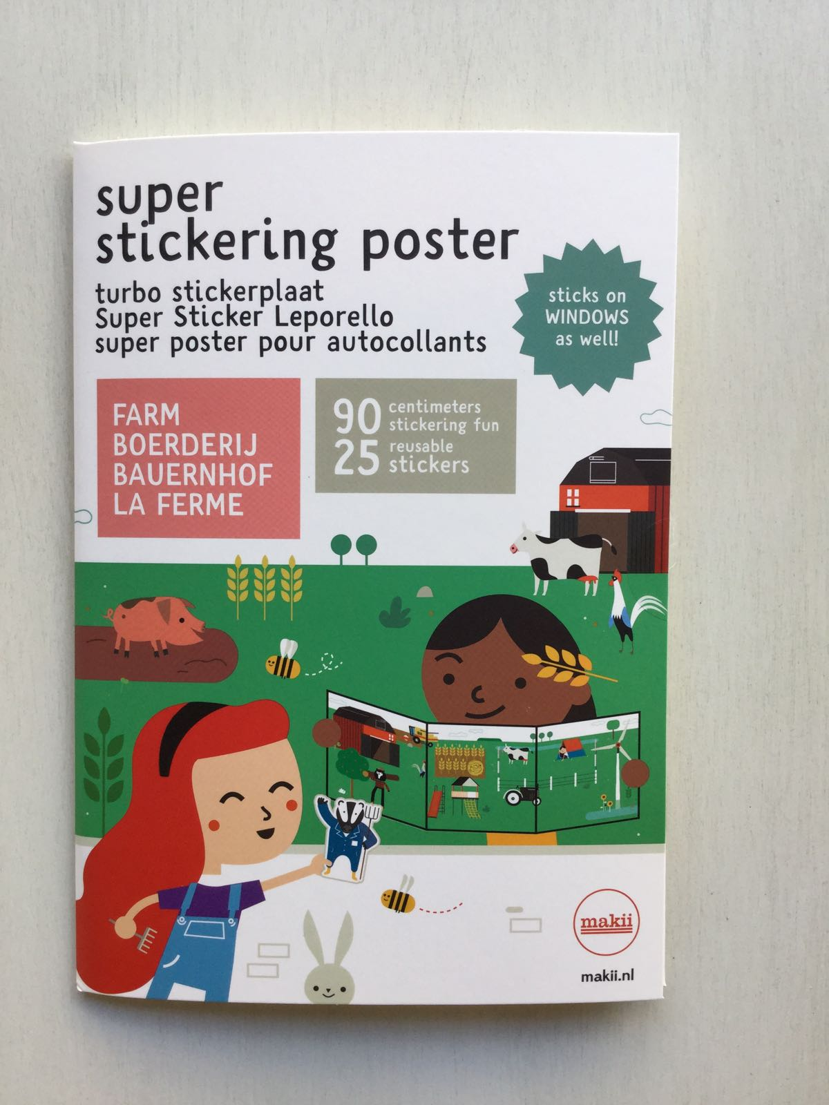 Makii - Super stickering poster - Farm
