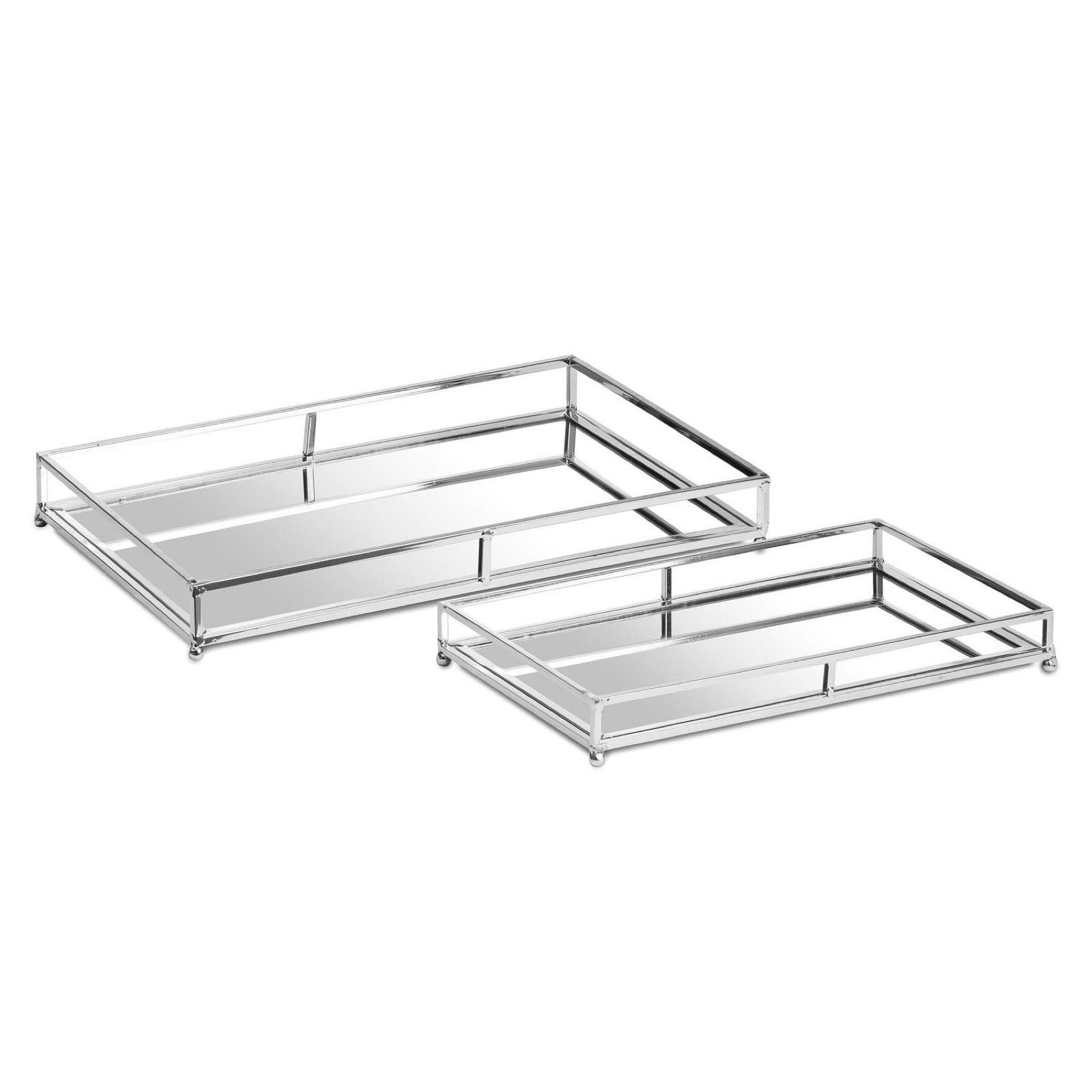 Large silver rectangular tray  49cm x 30cm