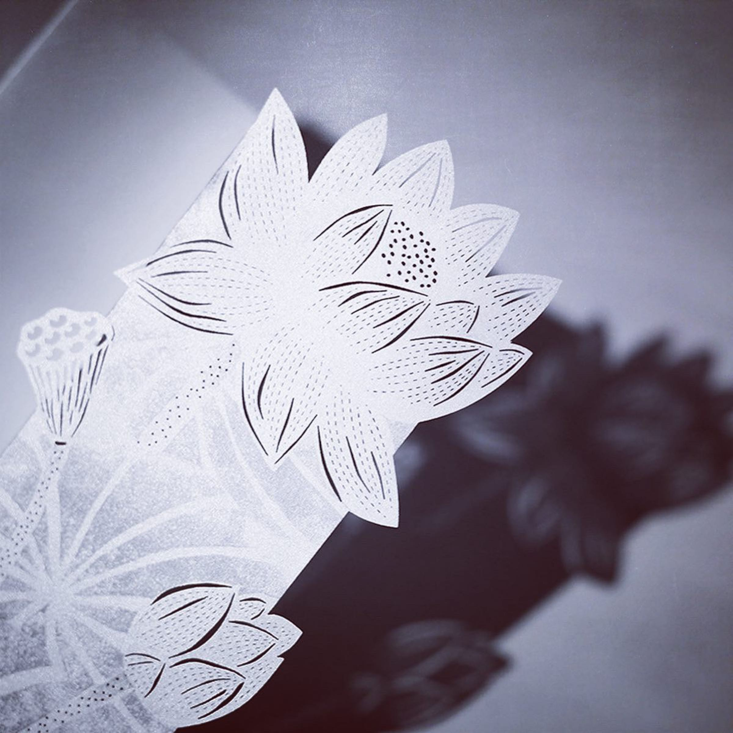 Paper Art 3D Kort – Lotus