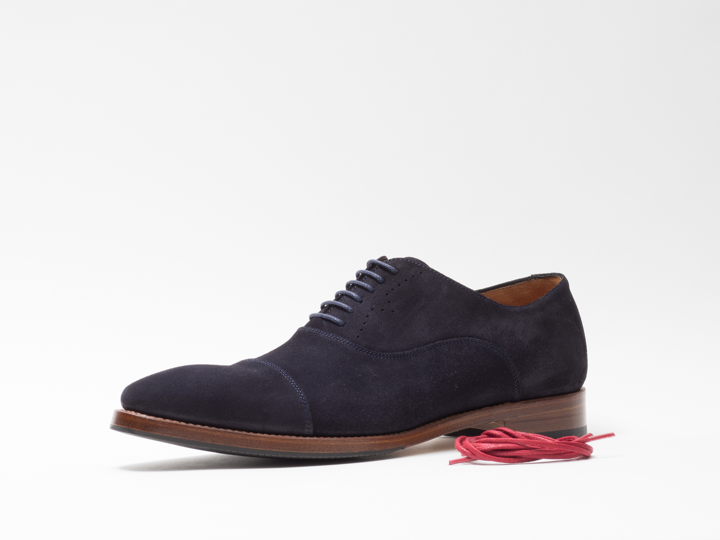 DRESS SHOE NAVY SUEDE