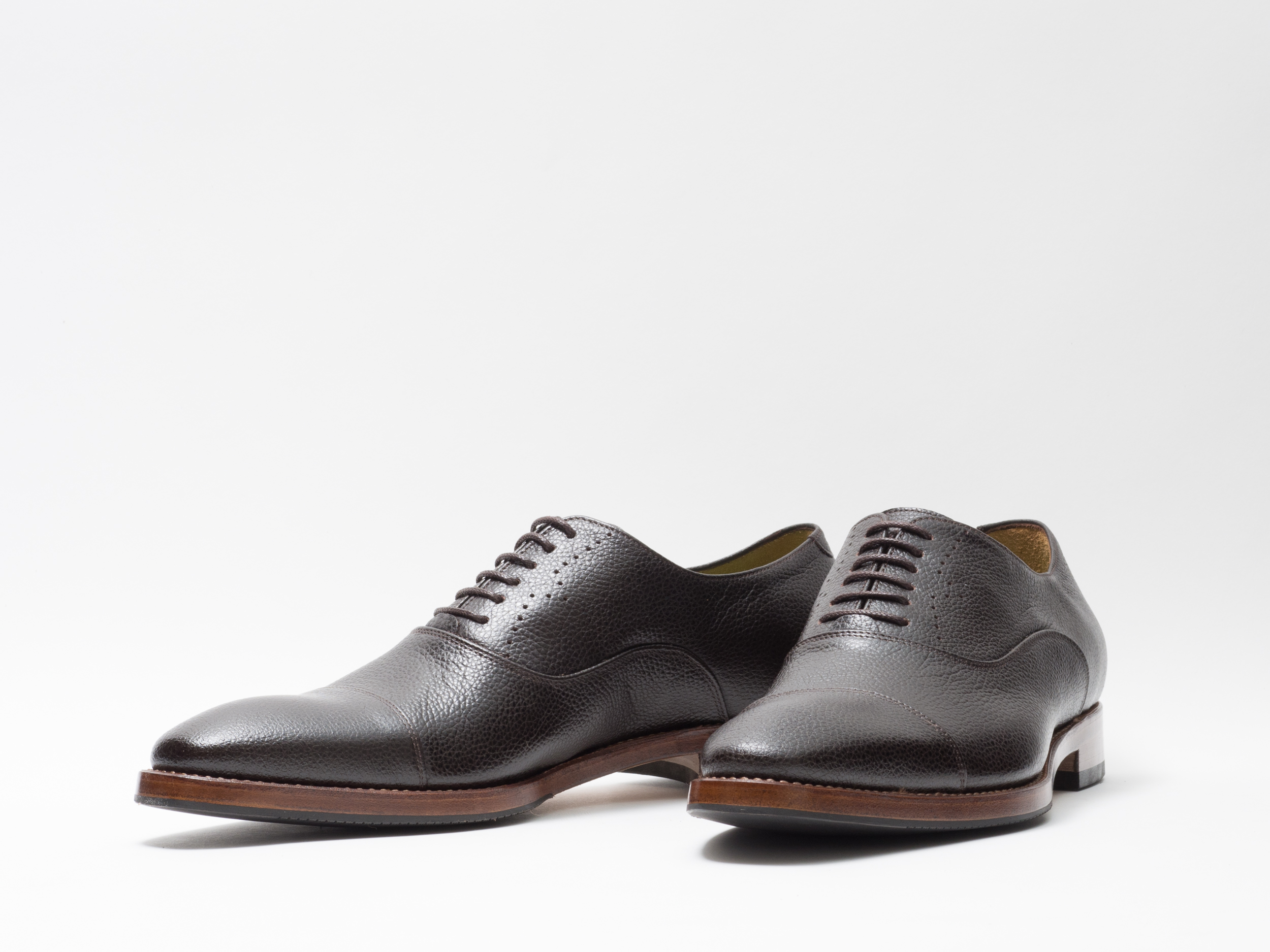 DRESS SHOE D.BROWN PEBBLED