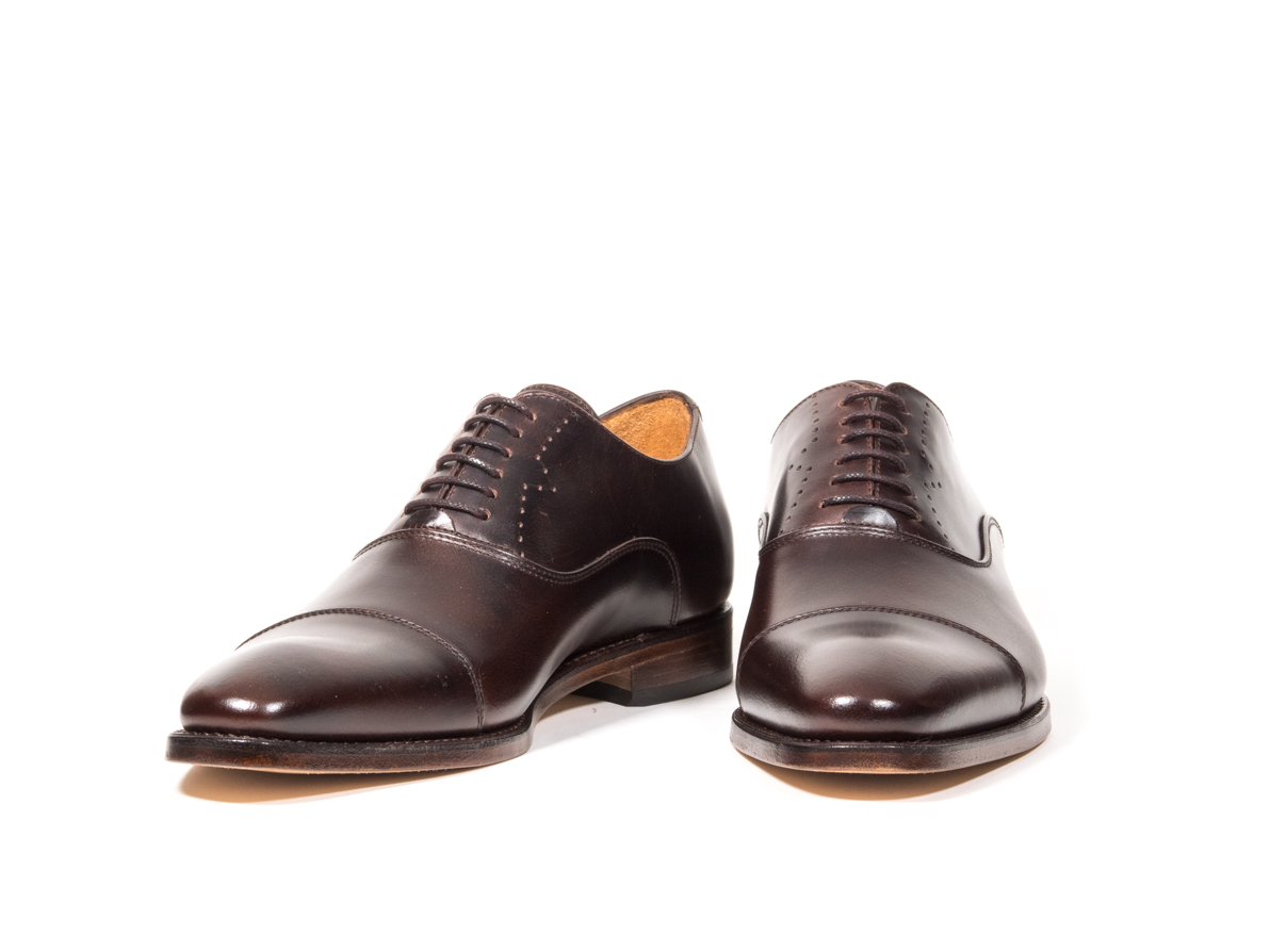 DRESS SHOE DARK BROWN PULL-UP