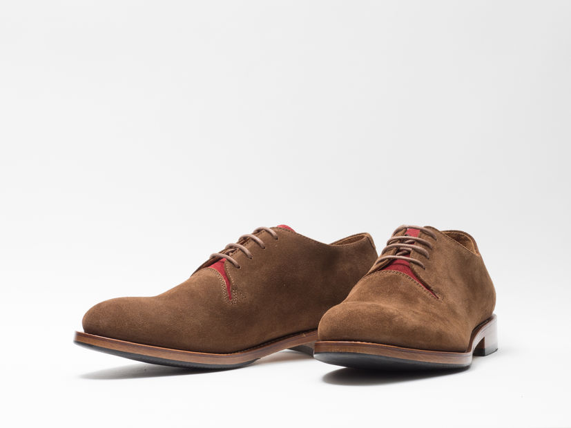 CASUAL SHOE SAND & RED SUEDE