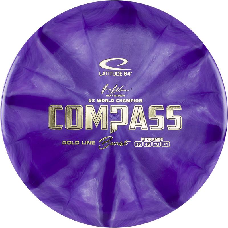 Gold Burst Compass