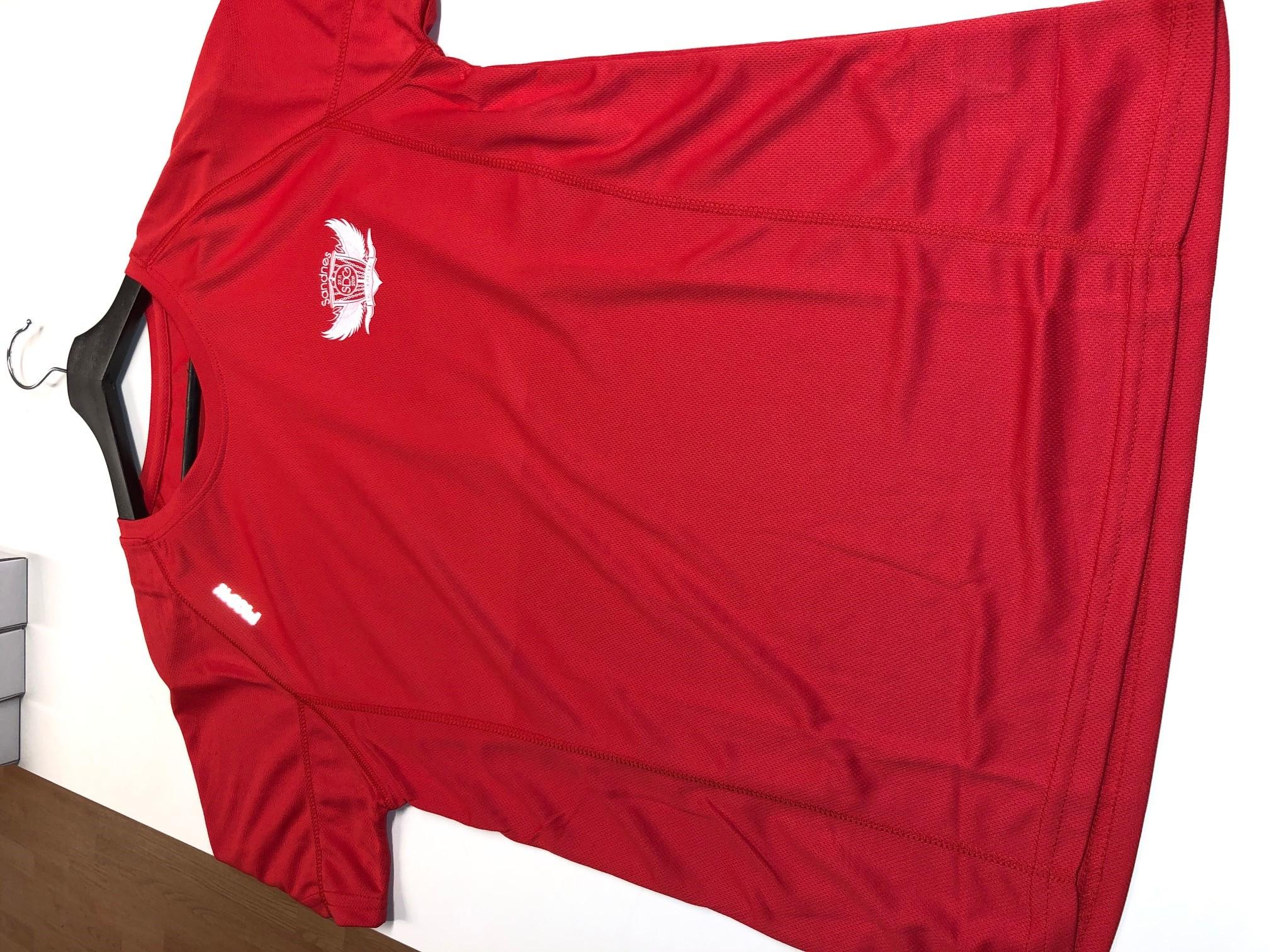 Sandnes Disc Golf klubb Blue Rebell Tec T shirt Herre