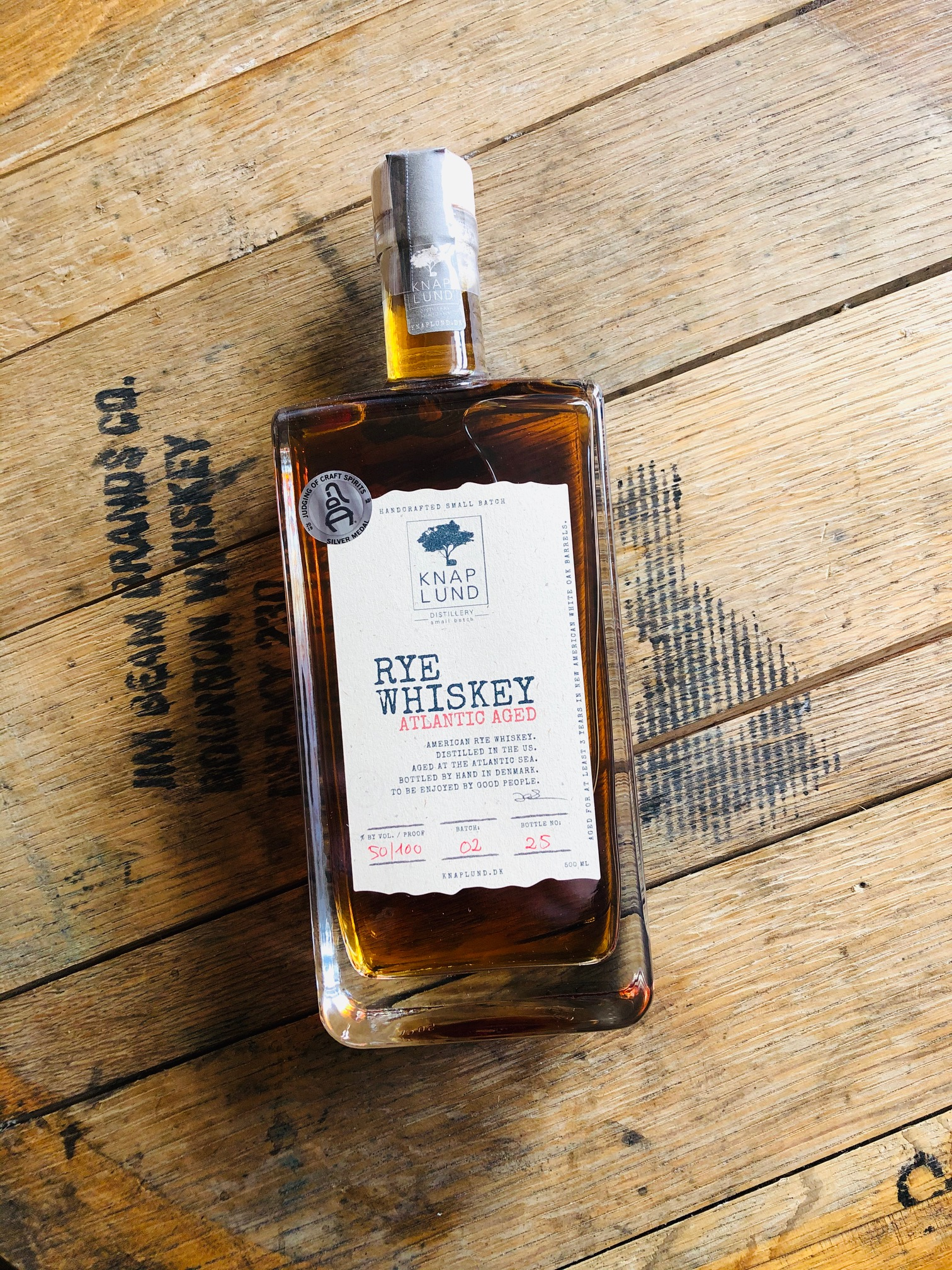 Atlantic aged | RYE Whiskey 50% - batch 02