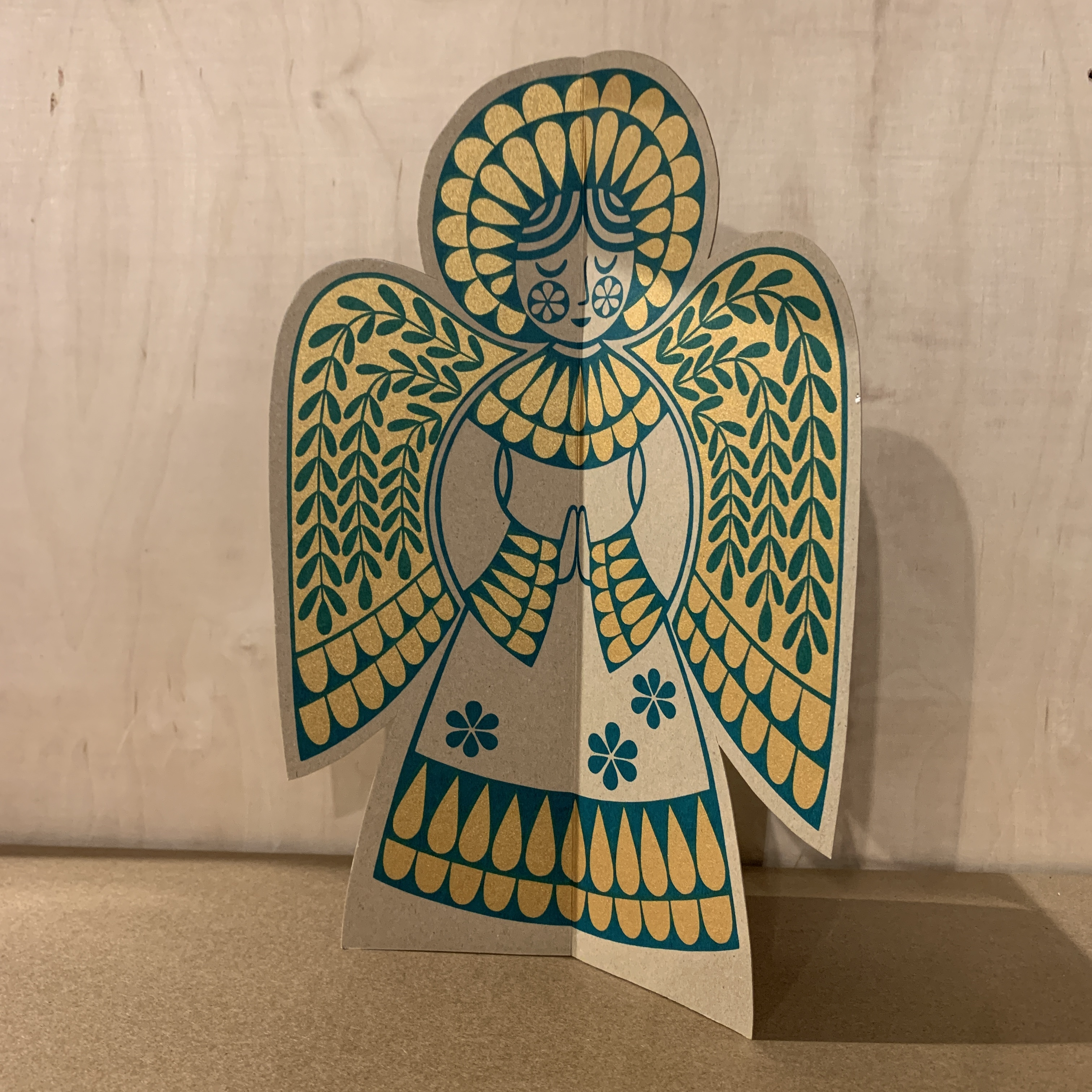 Karoline Rerrie - Screen Printed Angel Decoration