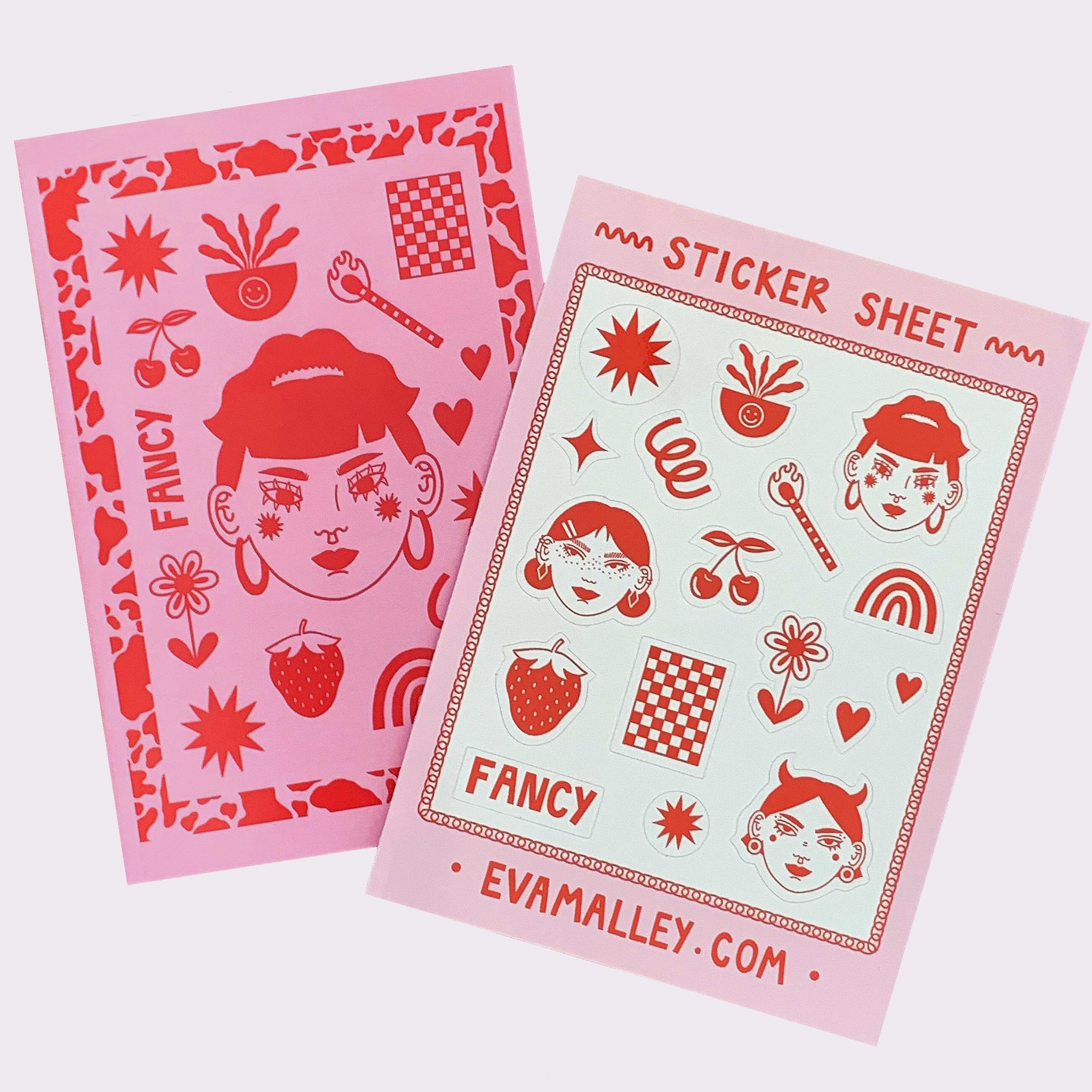 Eva Malley Illustration - Fancy Notebook & Sticker Set