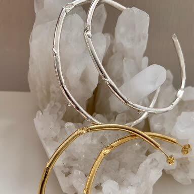 Samantha English Jewellery - Large Hoops