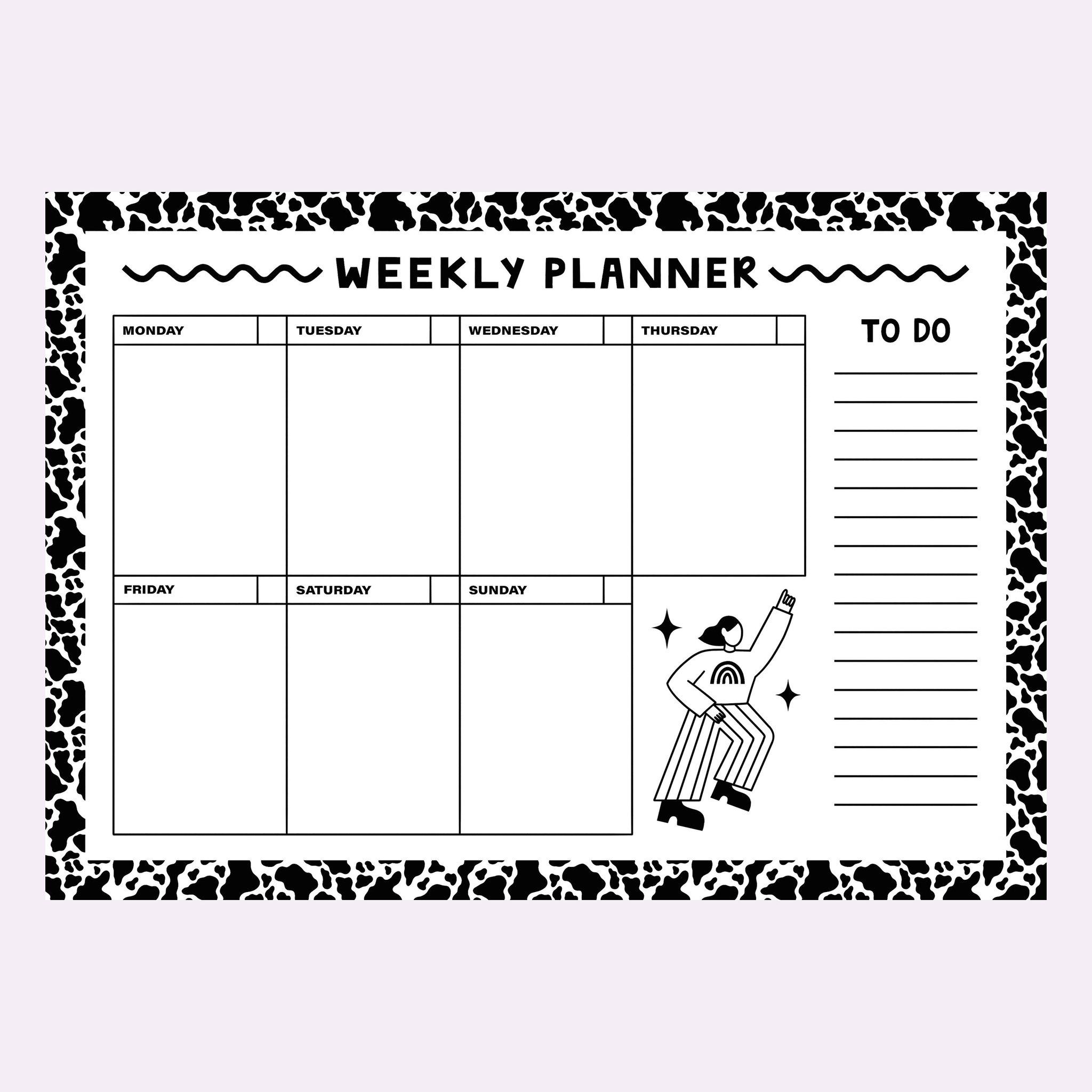 Eva Malley Illustration - Weekly Planner