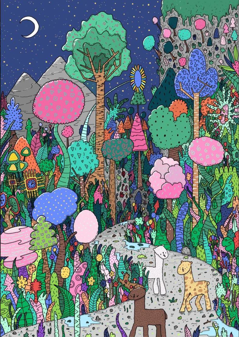 OMGIDRAWEDIT - Alpaca Forest