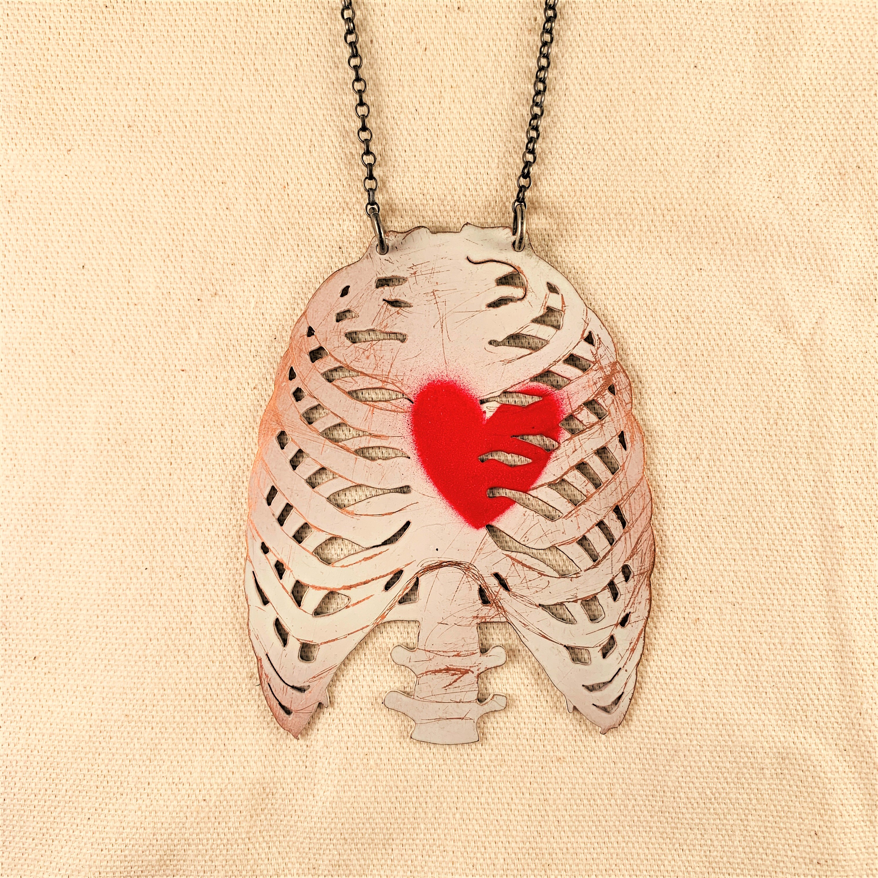 Anna Watson - Large Ribcage Necklace
