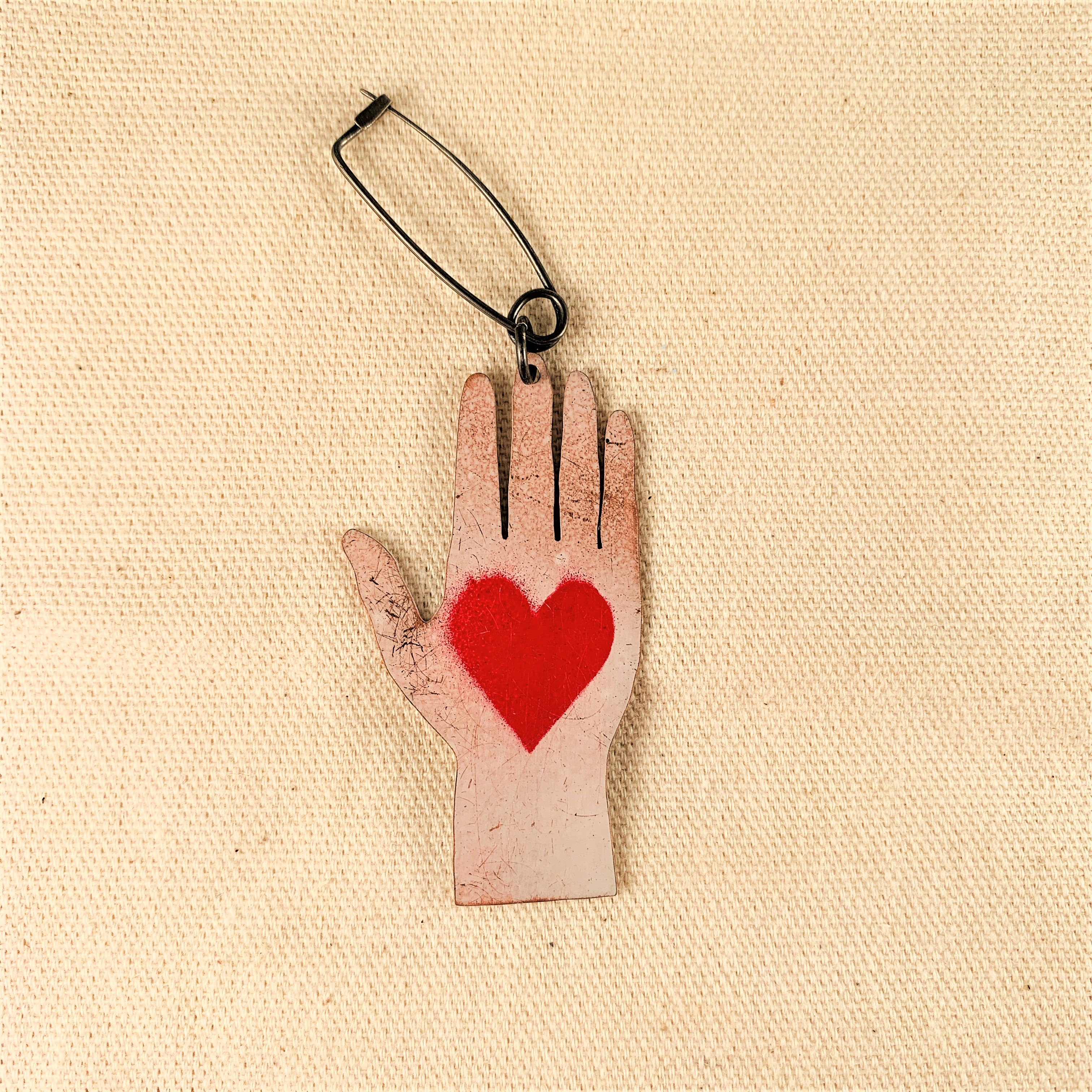 Anna Watson - Heart Hand Brooch