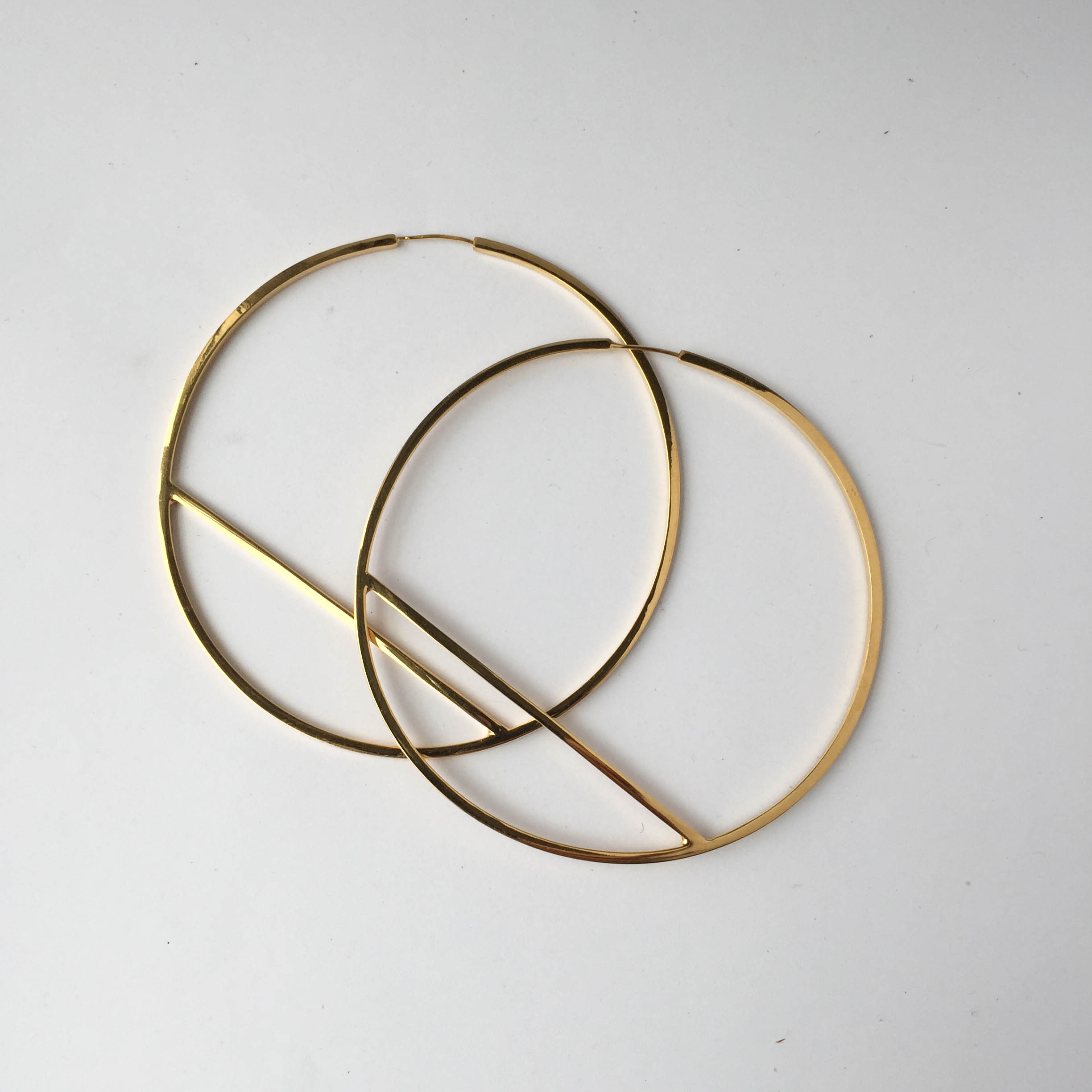 Jake McCombe Jewellery - Large Circle Earrings