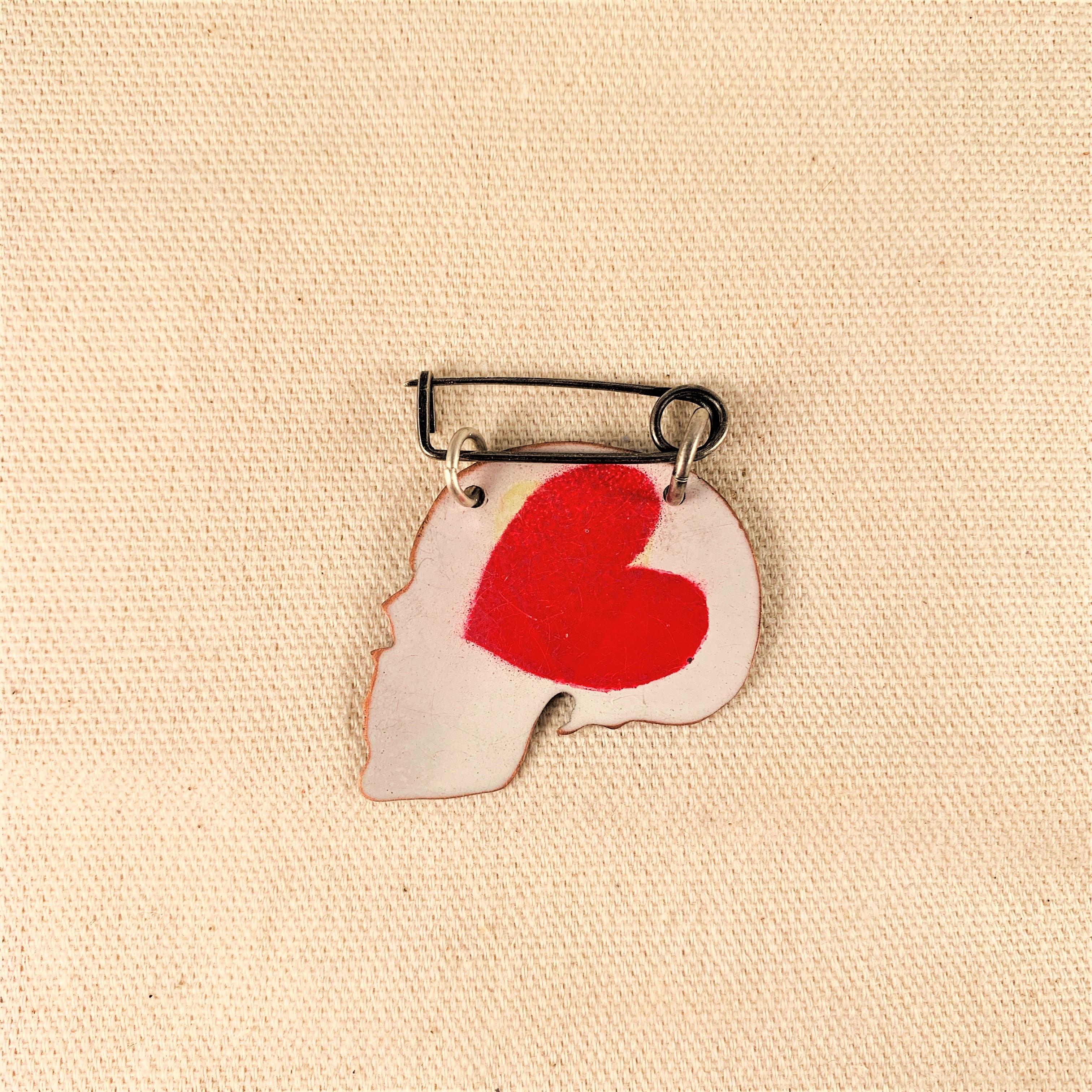 Anna Watson - Heart Head Brooch